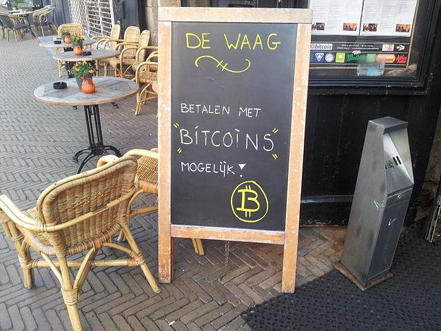Bij stadscafé De Waag in Delft kunt u betalen met bitcoins
